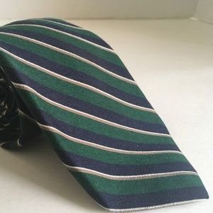 Givenchy Gentlemen Paris Green Blue Necktie